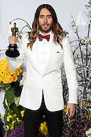 HOLLYWOOD, LOS ANGELES, CA, USA - MARCH 02: Jared Leto at the 86th Annual Academy Awards - Press Room held at Dolby Theatre on March 2, 2014 in Hollywood, Los Angeles, California, United States. (Photo by Xavier Collin/Celebrity Monitor)