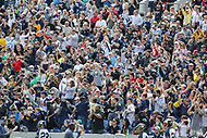 Annapolis, MD - April 15, 2017: Navy Midshipmen fans celebrate after a goal during game between Army vs Navy at  Navy-Marine Corps Memorial Stadium in Annapolis, MD.   (Photo by Elliott Brown/Media Images International)