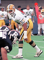 Tom Tuinei Edmonton Eskimos 1985. Copyright photograph Scott Grant