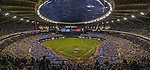 29 March 2014: A crowd of 50,229 fill the seats of Olympic Stadium for a pre-season exhibition game between the Toronto Blue Jays and the New York Mets in Montreal, Quebec. The Blue Jays shut out the Mets 2-0 in the first MLB professional baseball series since September of 2004. Members of the 1994 Expos were honored in a pre-game ceremony as the Blue Jays swept the 2-game series. Mandatory Credit: Ed Wolfstein Photo *** RAW (NEF) Image File Available ***29 March 2014: Members of the 1994 Expos are honored in a pre-game ceremony as a crowd of 50,229 fill the seats of Olympic Stadium for a pre-season exhibition game between the Toronto Blue Jays and the New York Mets in Montreal, Quebec. The Blue Jays shut out the Mets 2-0 in the first MLB professional baseball series since September of 2004. The Blue Jays swept the 2-game series. Mandatory Credit: Ed Wolfstein Photo *** RAW (NEF) Image File Available ***
