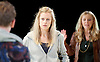 People, Places and Things <br /> by Duncan Macmillan <br /> directed by Jeremy Herrin <br /> at the Dorfman Theatre, NT, Southbank, London, Great Britain <br /> press photocall <br /> 28th August 2015 <br /> Jacob James Beswick <br /> Denise Gough <br /> Sally George <br /> <br /> Photograph by Elliott Franks <br /> Image licensed to Elliott Franks Photography Services