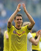 FUSSBALL   1. BUNDESLIGA   SAISON 2011/2012   31. SPIELTAG FC Schalke 04 - Borussia Dortmund                      14.04.2012 Jubel nach dem Abpfiff: Sebastian Kehl (Borussia Dortmund)