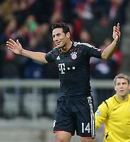 FUSSBALL   CHAMPIONS LEAGUE   SAISON 2012/2013   GRUPPENPHASE   FC Bayern Muenchen - LOSC Lille                          07.11.2012 JUBEL FC Bayern; Torschuetze Claudio Pizarro