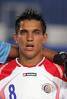 Costa Rica's David Guzman (8) stands on the field before the match against Egypt during the FIFA Under 20 World Cup Round of 16 match at the Cairo International Stadium on October 06, 2009 in Cairo, Egypt.