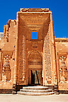 Entrance to the 18th Century Ottoman architecture of the Ishak Pasha Palace (Turkish: İshak Paşa Sarayı) ,  Ağrı province of eastern Turkey.
