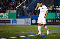 New York Cosmos player Raul reacts during his game against Tampa Bay Rowdies during the North American Soccer League in New York. Eduardo MunozAlvarez/VIEWpress 04/18/2015