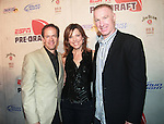 Sportscaster Dan Hicks, Sportscaster Hannah Storm and Former NBA Player Chris Mullin  Attend ESPN The Magazine's Eighth Annual Pre-Draft Party, at ESPACE Featuring Music Provided by ?uestLove, New York  4/27/11