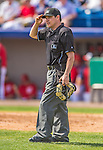 11 March 2013: MLB Umpire Gary Cederstrom officiates a Spring Training game between the Atlanta Braves and the Washington Nationals at Space Coast Stadium in Viera, Florida. The Braves defeated the Nationals 7-2 in Grapefruit League play. Mandatory Credit: Ed Wolfstein Photo *** RAW (NEF) Image File Available ***