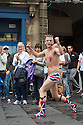 Edinburgh, UK. 31.07.2014. Activity on the Royal Mile increases as the official start of the Edinburgh Festival Fringe approaches. Photograph © Jane Hobson.