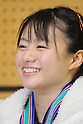 Kanae Yagi, MARCH 6, 2011 - Weightlifting : Kanae Yagi celebrates after winning during the all japan junior Weightlifting championship Women's 53kg class in Saitama city, Saitama Japan. (Photo by Yusuke Nakanishi/AFLO SPORT) [1090]