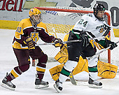 Alex Goligoski, Kellen Briggs, Chris Porter - The University of Minnesota Golden Gophers defeated the University of North Dakota Fighting Sioux 4-3 on Saturday, December 10, 2005 completing a weekend sweep of the Fighting Sioux at the Ralph Engelstad Arena in Grand Forks, North Dakota.