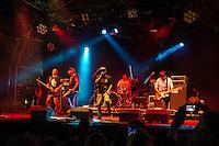 Asian Dub Foundation onstage.