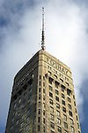 Photograph of the top of the Foshay Tower in Minneapolis, Minnesota