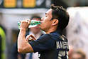 "Yuto Nagatomo (Inter), FEBRUARY 23, 2014 - Football / Soccer : Yuto Nagatomo of Inter drinks water during the Italian ""Serie A"" match between Inter Milan 1-1 Cagliari at Stadio Giuseppe Meazza in Milan, Italy. (Photo by Enrico Calderoni/AFLO SPORT)"