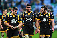 Nathan Hughes of Wasps is all smiles after the match. European Rugby Champions Cup match, between Wasps and Connacht Rugby on December 11, 2016 at the Ricoh Arena in Coventry, England. Photo by: Patrick Khachfe / JMP