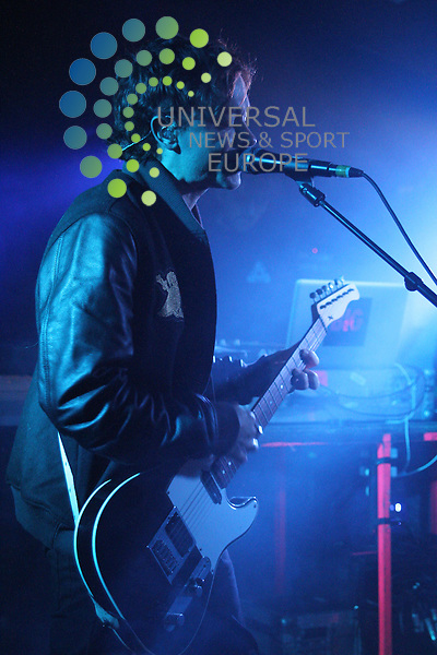 The Big Pink, an English electro-rock duo comprising multi-instrumentalists Robbie Furze and Milo Cordell,  play a headline gig in King Tuts in Glasgow on Tuesday 14th February 2012....Picture: Justin Moir/Universal News And Sport (Europe) 2012..