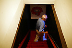 Former Chicago Cardinals football player Charley Trippi was inducted into the College Football Hall of Fame and the Pro Football Hall of Fame during his career in the sport. He walks down the stairs to his basement, where much of his Georgia and Cardinals memorabilia is housed, in his Athens, Georgia home. KENDRICK BRINSON