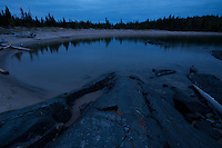Beach by Dusk, Pukaskwa National Park.