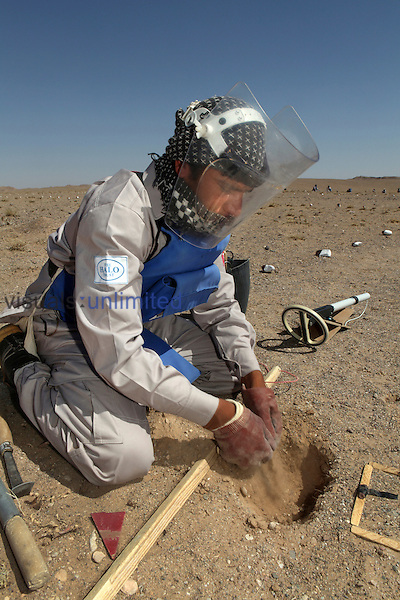 Halo Trust worker clearing a minefield, Afghanistan