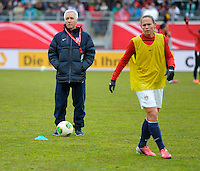 Offenbach, Germany, Friday, April 05 2013: Womans, Germany vs. USA, in the Stadium in Offenbach,  Headcoach Tom Sermanni (USA)..