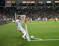 CARSON, CA – NOVEMBER 14: LA Galaxy midfielder David Beckham (23) during the Western Conference Final soccer match at the Home Depot Center, November 14, 2010 in Carson, California. Final score LA Galaxy 0, Dallas FC 3.
