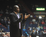 "Alcorn State coach Larry Smith at the C.M. ""Tad"" Smith Coliseum in Oxford, Miss. on Thursday, December 29, 2010. Ole Miss won 100-62. (AP Photo/Oxford Eagle, Bruce Newman)"