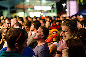Hopscotch Festival goers arrived dressed creatively for a performance by The Roots. Raleigh, NC. September 8, 2012.