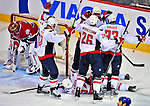 13 December 2008: The Washington Capitals celebrate their second and game winning goals in the third period against the Montreal Canadiens at the Bell Centre in Montreal, Quebec, Canada. ***** Editorial Sales Only ***** Mandatory Photo Credit: Ed Wolfstein Photo