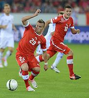 Fussball International  WM Qualifikation 2014   11.09.2012 Schweiz - Albanien Xherdan SHAQIRI (li, Schweiz) und Granit Xhaka (Schweiz)