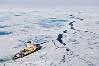 Oden was originally built in Sweden to break ice in the Baltic Sea during winter and to keep the shipping routes open between Sweden, Finland, and Russia. It still does that, but it has also adopted a second career during North American summers as a research vessel, taking scientists to conduct research at both of Earth's poles.