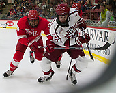 Jared Fiegl (Cornell - 18), Lewis Zerter-Gossage (Harvard - 77) - The Harvard University Crimson defeated the visiting Cornell University Big Red on Saturday, November 5, 2016, at the Bright-Landry Hockey Center in Boston, Massachusetts.