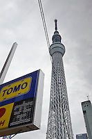 Tokyo Sky Tree, Tokyo, Japan, October 30, 2011. Scheduled to open to the public 22 March 2011, the Tokyo Sky Tree broadcasting tower is the tallest freestanding tower in the world at 634m high. On the 30 October 2011 the tower's 350m high viewing platform was opened to members of the media.