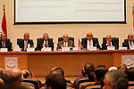 Members of the High Elections Committee attend a news conference in Cairo, Egypt, August 30, 2015. Egypt will hold a long-awaited parliamentary election in two phases starting Oct. 18-19, the election commission said on Sunday, the final step of a roadmap to democracy that critics say has been tainted by a crackdown on dissent. Photo by Amr Sayed