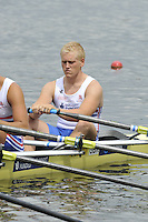 Amsterdam, NETHERLANDS, GBR M4X. Bow. Oliver LEE,   2011 FISA U23 World Rowing Championships, {dow}, {date} [Mandatory credit:  Intersport Images].
