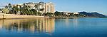The Esplanade and city skyline.  Cairns, Queensland, Australia