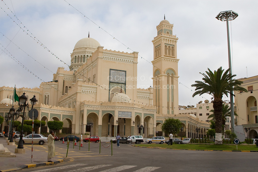 Tripoli, Libya. Al-Jazira Square Mosque, formerly Italian Roman Catholic Cathedral. Now headquarters of the World Islamic Call Society.
