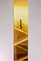 Stairs, Museum of Modern Art, addition Designed by Yoshio Taniguchi, New York City, New York