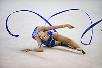 Daria Dmitrieva of Russia performs with ribbon during event finals at 2010 Holon Grand Prix at Holon, Israel on September 3, 2010.  (Photo by Tom Theobald).