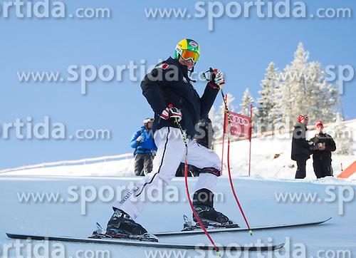 26.01.2013, Streif, Kitzbuehel, AUT, FIS Weltcup Ski Alpin, Abfahrt, Herren, Streckenbesichtigung, im Bild Siegmar Klotz (ITA) // Siegmar Klotz of Italy at the Course inspection during mens Downhill of the FIS Ski Alpine World Cup at the Streif course, Kitzbuehel, Austria on 2013/01/26. EXPA Pictures © 2013, PhotoCredit: EXPA/ Johann Groder
