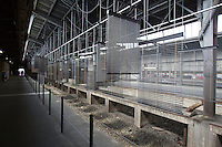 "dOCUMENTA (13) in Kassel, Germany..Hauptbahnhof (Main Railway Station)..Haegue Yang, ""Approaching: Choreography Engineered in Never-Past Tense"", 2012."
