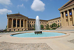 Exterior and fountain, Philadelphia Museum of Art .Philadelphia, Pennsylvania, PA USA.  Photo copyright Lee Foster, 510-549-2202, lee@fostertravel.com, www.fostertravel.com. Photo 204-30723