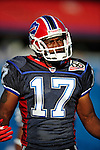 3 September 2009:  Buffalo Bills' wide receiver Justin Jenkins warms up prior to a pre-season game against the Detroit Lions at Ralph Wilson Stadium in Orchard Park, New York. The Lions defeated the Bills 17-6...Mandatory Photo Credit: Ed Wolfstein Photo