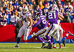 19 October 2014: Buffalo Bills tight end Scott Chandler gains seven yards and a first down on the game-winning drive in the fourth quarter against the Minnesota Vikings at Ralph Wilson Stadium in Orchard Park, NY. The Bills defeated the Vikings 17-16 in a dramatic, last minute, comeback touchdown drive. Mandatory Credit: Ed Wolfstein Photo *** RAW (NEF) Image File Available ***