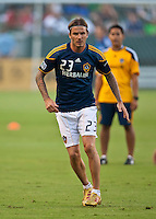 CARSON, CA – August 20, 2011: LA Galaxy forward David Beckham (23) during the match between LA Galaxy and San Jose Earthquakes at the Home Depot Center in Carson, California. Final score LA Galaxy 2, San Jose Earthquakes 0.