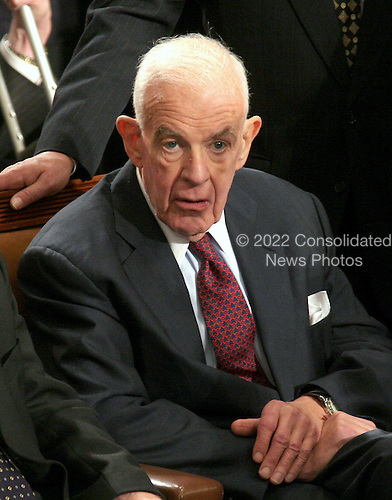 Washington, D.C. - January 4, 2007 --  Former United States Representative Thomas S. Foley (Democrat of the 5th District of Washington), former Speaker of the United States House of Representatives, watches as U.S. Representative Nancy Pelosi (Democrat of the 8th District of California) is elected to his old job in the Capitol in Washington, D.C. on Thursday, January 4, 2007.  Former Speaker Foley was the first sitting Speaker to lose his bid for re-election in 1994..Credit: Ron Sachs / CNP