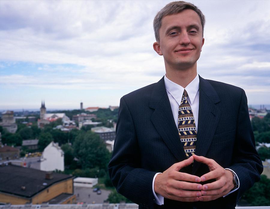 Tallinn, Estonia, 25/05/1999..Indrek Neivelt, CEO of Hansabank.
