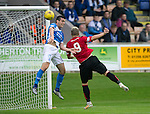 Brechin City v St Johnstone&hellip;26.07.16  Glebe Park, Brechin. Betfred Cup<br />Andy Jackson heads in to make it 1-0 to Brechin<br />Picture by Graeme Hart.<br />Copyright Perthshire Picture Agency<br />Tel: 01738 623350  Mobile: 07990 594431
