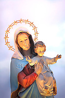 Madonna mit Kind..Pope Francis Holy Rosary - Conclusion of the month  of May.St Peter's square at the Vatican. May 31, 2013