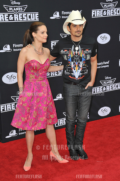 Brad Paisley &amp; wife Kimberly Williams-Paisley at the world premiere of Disney's &quot;Planes: Fire &amp; Rescue&quot; at the El Capitan Theatre, Hollywood.<br /> July 15, 2014  Los Angeles, CA<br /> Picture: Paul Smith / Featureflash