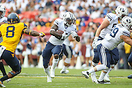 Landover, MD - September 23, 2016: BYU Cougars running back Jamaal Williams (21) runs the ball during game between BYU and WVA at  FedEx Field in Landover, MD.  (Photo by Elliott Brown/Media Images International)